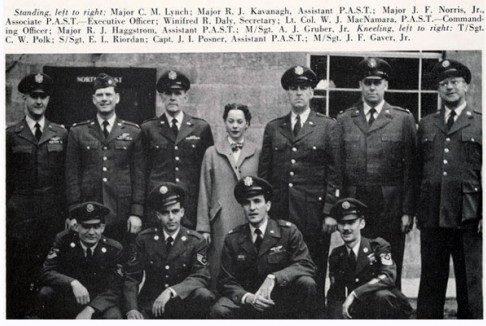 Staff of the Air Force ROTC program. Columbia College yearbook, 1953.